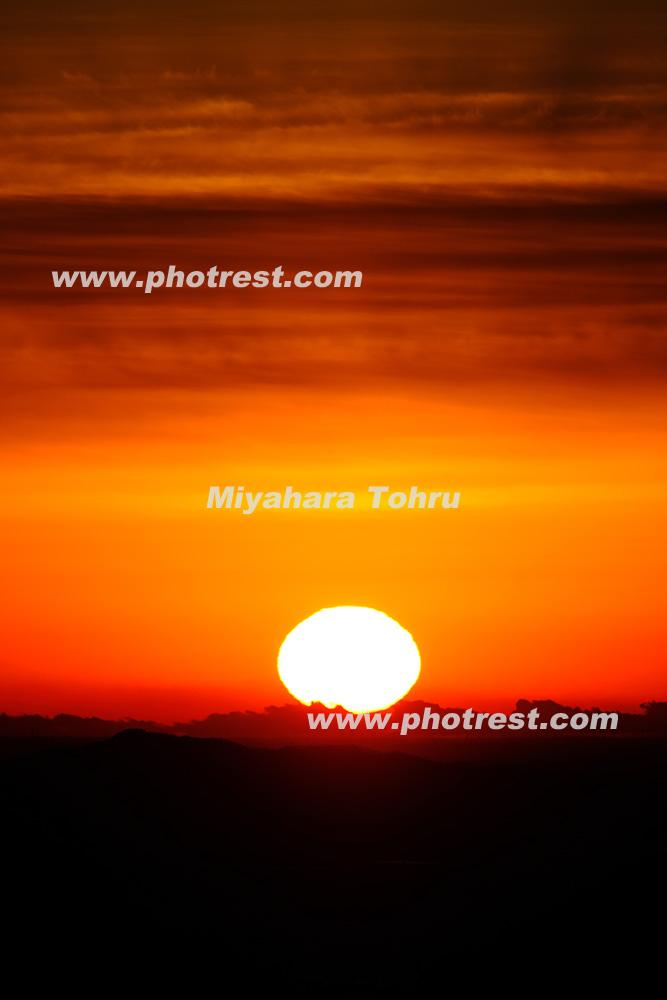 日の出の写真素材