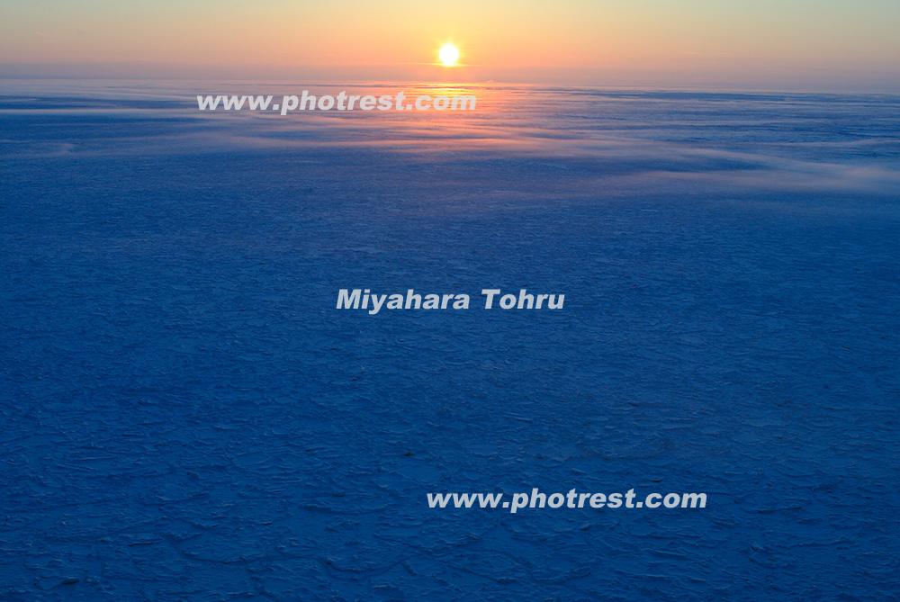 流氷の写真素材