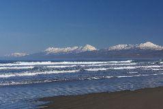 冬の知床連山