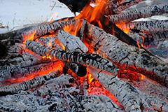 焚き火のオリジナルプリント