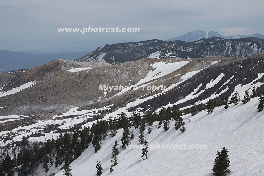 草津白根山の写真素材