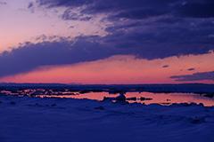 オホーツク海と流氷