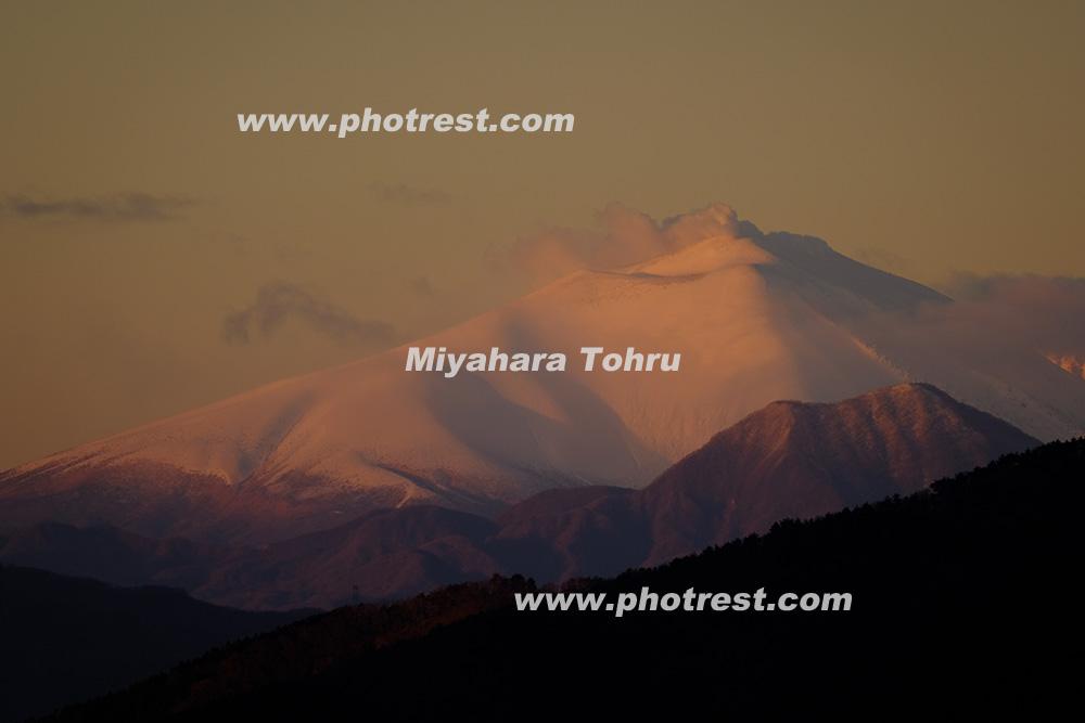浅間山の写真素材