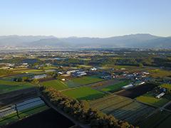 群馬の赤城高原の空撮
