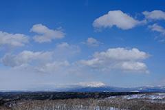 冬の斜里岳