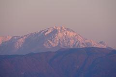 谷川岳のモルゲンロート