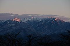 上州武尊山のモルゲンロート