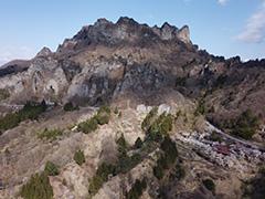 妙義山さくらの里の空撮