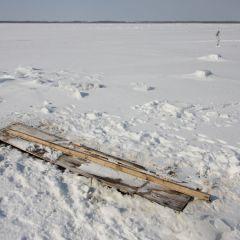 氷下待ち網漁のフォト作品
