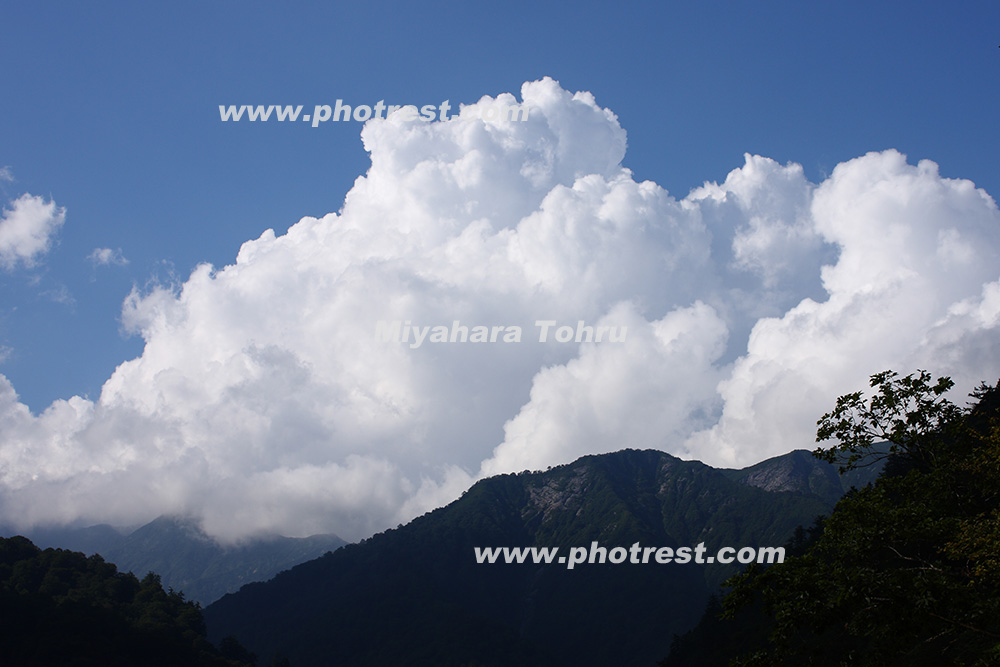 入道雲の写真素材