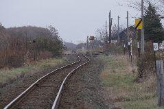 秋の止別駅