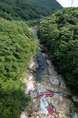 夏の諏訪峡