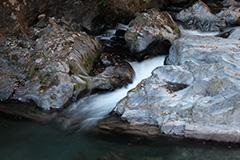 秋の桐生川